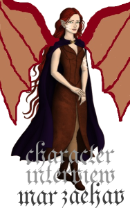 This rendering of my character I made using the website dolldivine.com and Paint for my atrocious attempt at wings.