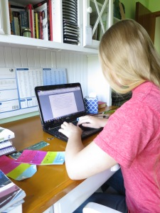 Here I am at my writing desk on Wednesday when I wrote 3k in one day (it was a lot for me ;) )