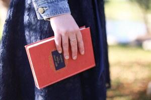 Gabrielle Massman with a Book