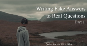 Writing Tips: Avoid Fake Answers to Real Questions (Part 1)